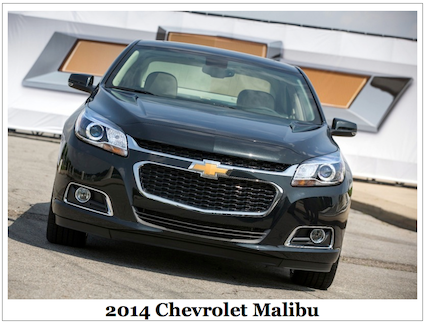 2014 Chevrolet Malibu midsize sedan.