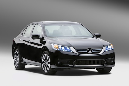 2014 Honda Accord Hybrid midsize sedan.