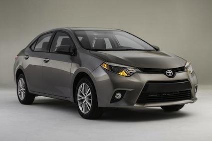 2014 Toyota Corolla fuel economy.