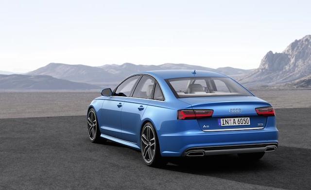 Rear view, 2016 Audi A6.