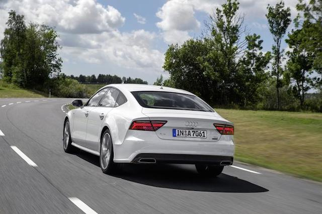 Rear view, 2016 Audi A7.