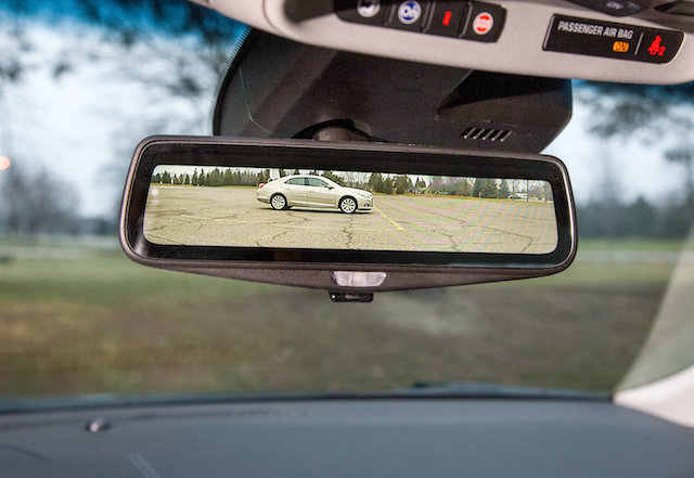 The CT6's rear view mirror as it provides video streaming.