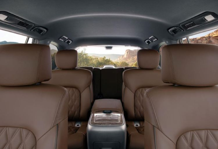 Nissan Armada quilted leather seats