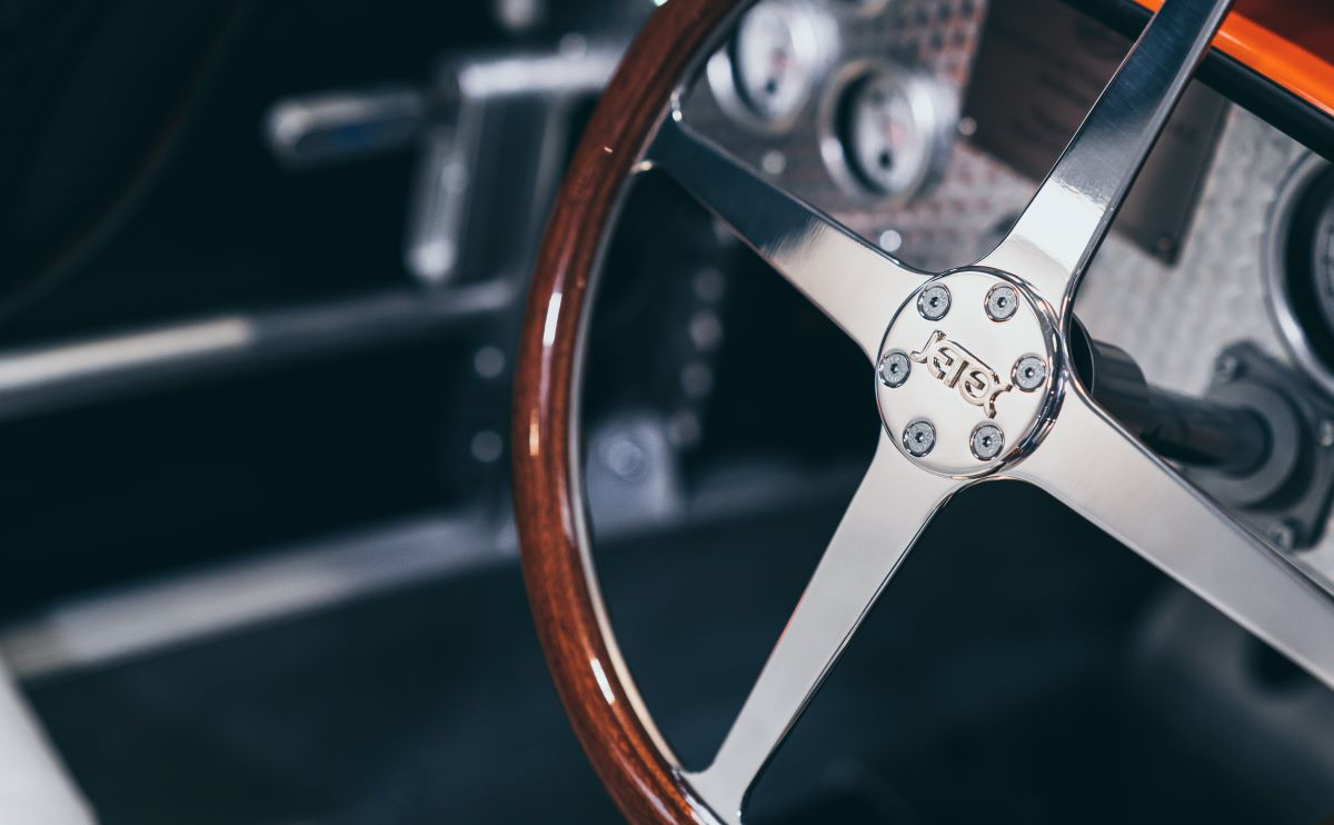 Bugatti steering wheel
