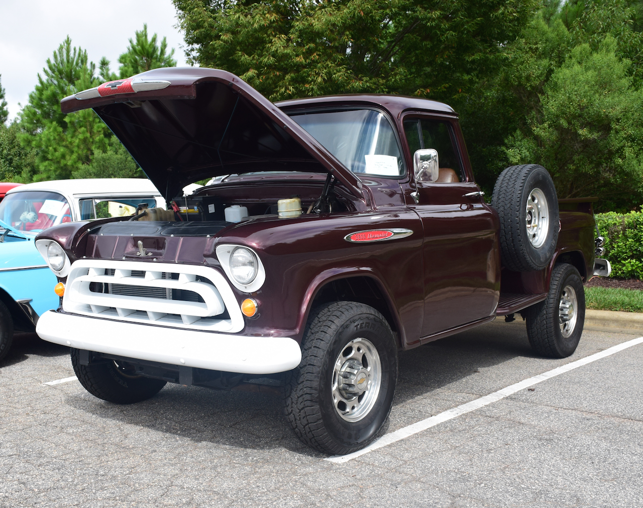 1957 Chevrolet 3600 pickup truck. Capital City Cruisers