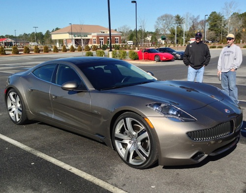 Cars and Coffee Fayetteville: Fisker Karma