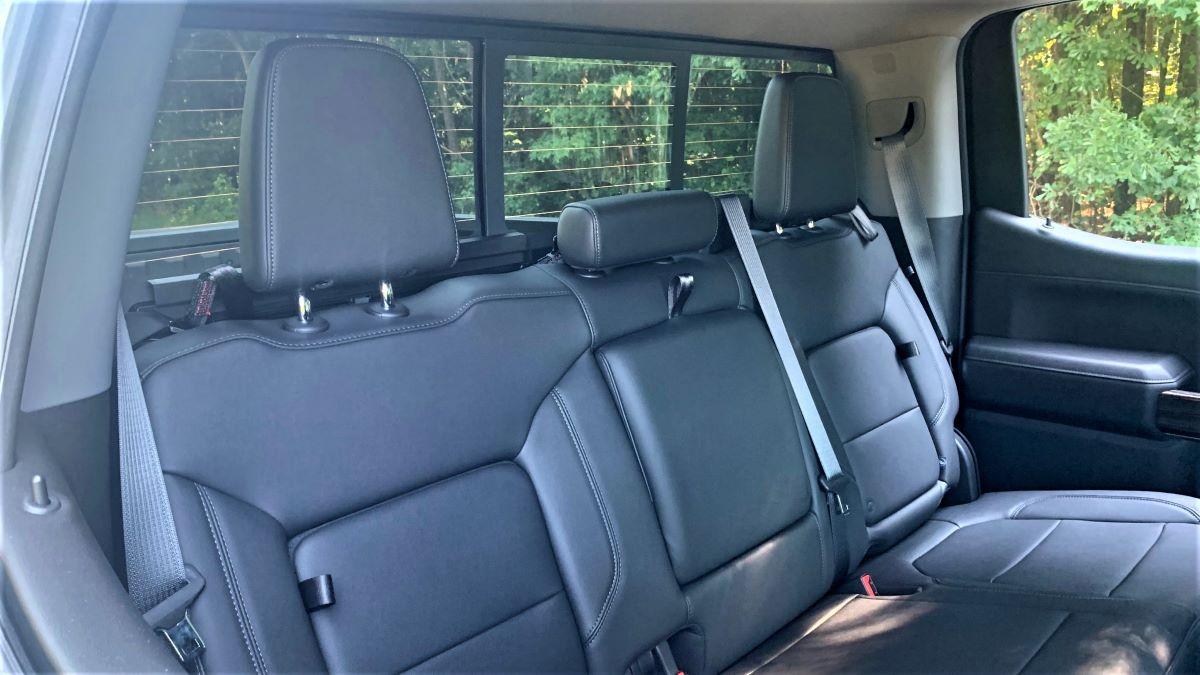 2021 Chevrolet Silverado rear seats