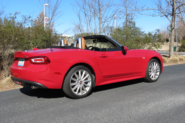 2017 Fiat 124 Spider. Not Isuzu.