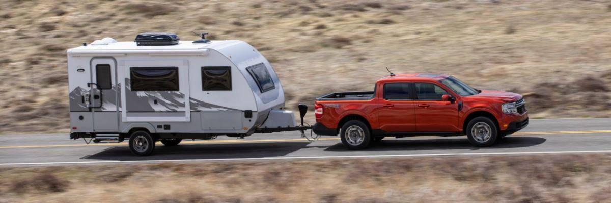 Ford Maverick pulling trailer