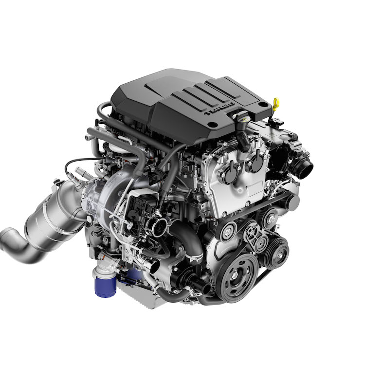 Chevrolet Silverado turbocharged 2.7-liter four-cylinder engine.