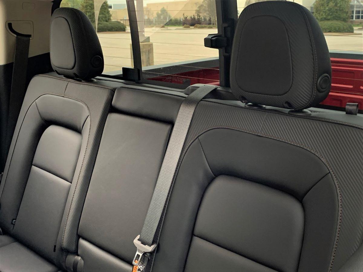 GMC Canyon rear seats