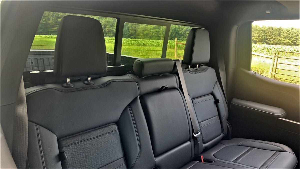 2021 GMC Sierra back seats