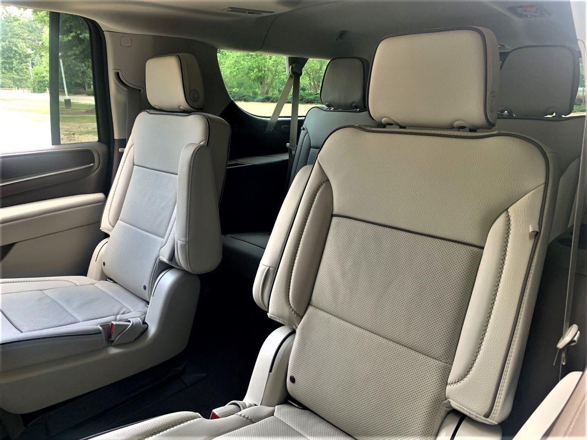 2021 GMC Yukon XL second-row seats
