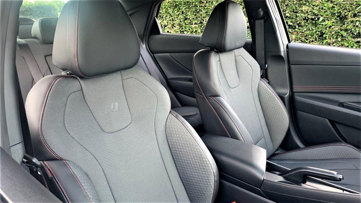 2021 Hyundai Elantra N Line front seat