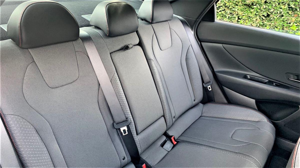 2021 Hyundai Elantra N Line rear seat