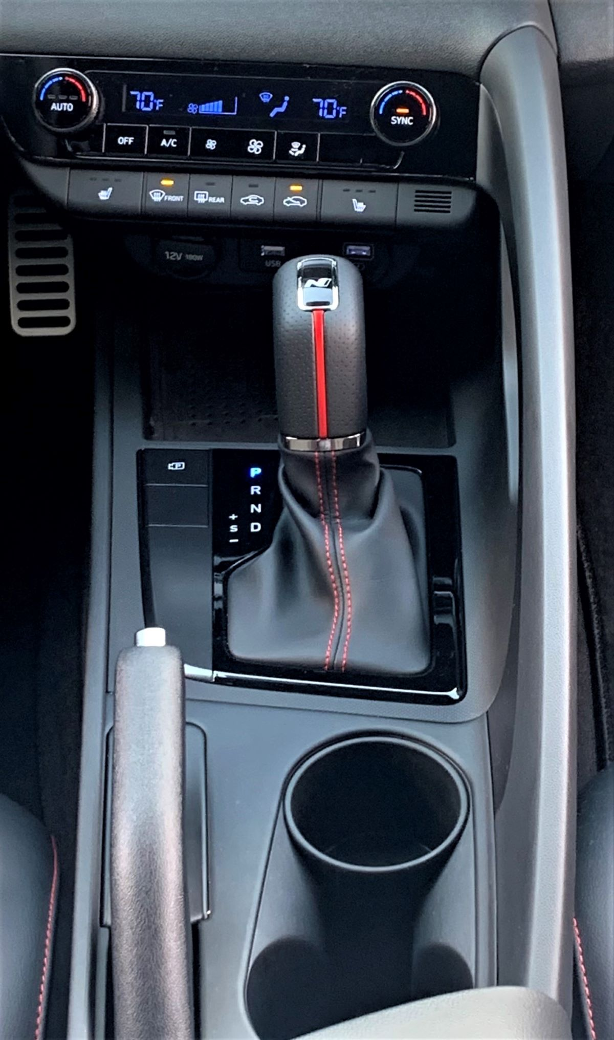 2021 Hyundai Elantra N Line DCT shifter