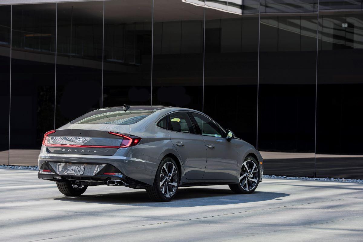 2021 Hyundai Sonata rear view