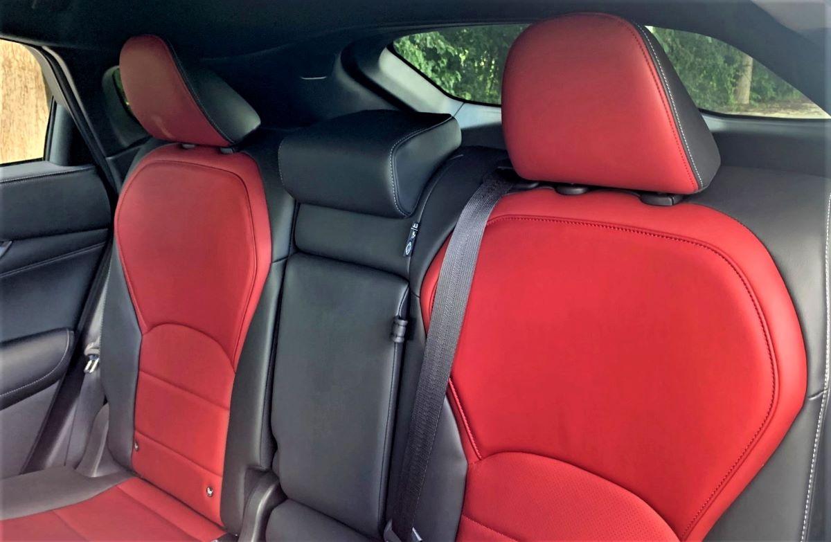 2022 Infiniti QX55 rear seats