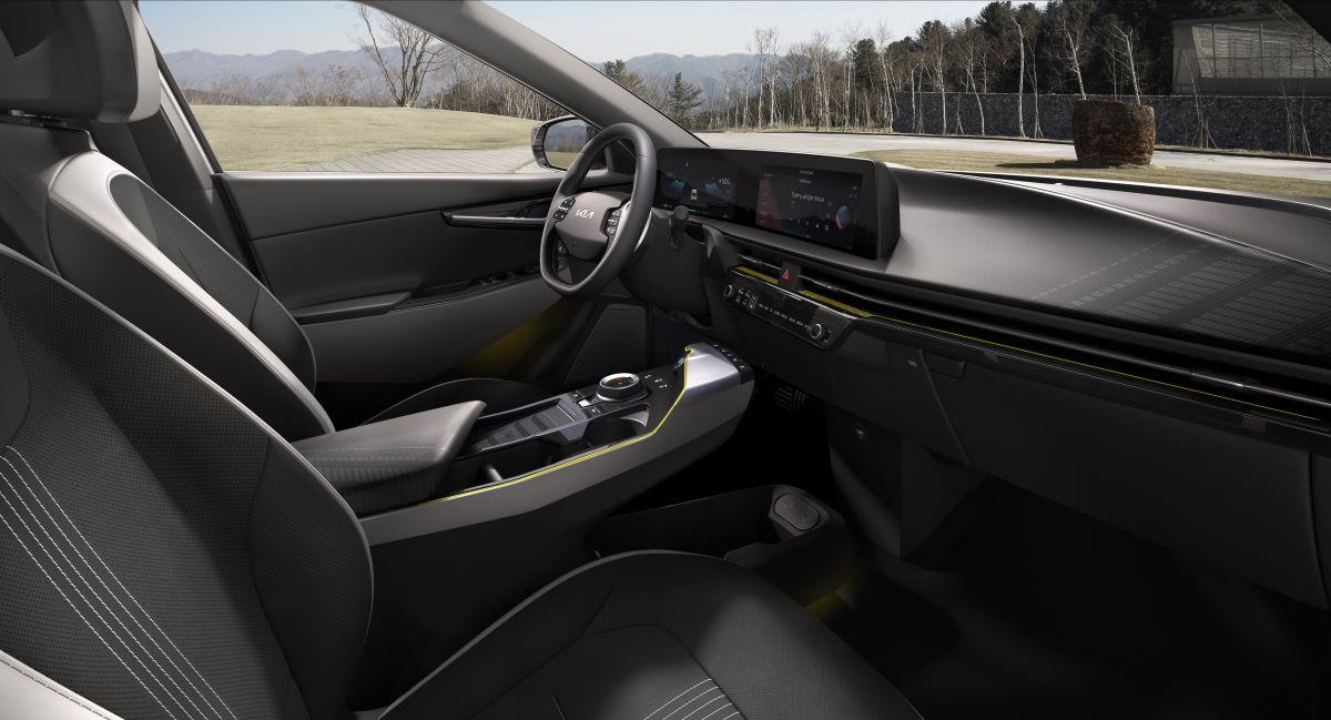 Kia EV6 front seats side