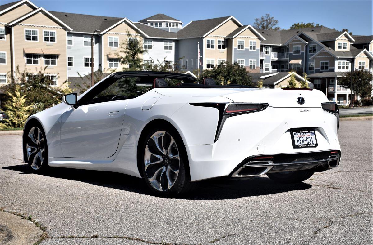 2021 Lexus LC 500 Convertible profile rear