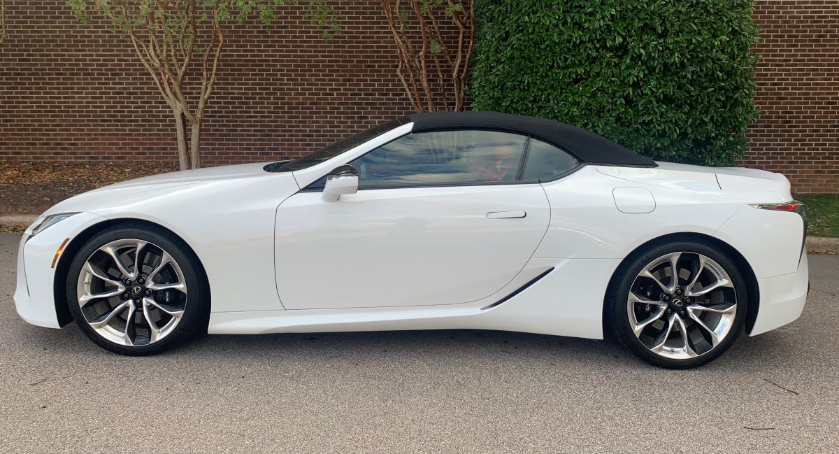2021 Lexus LC 500 Convertible profile roof up