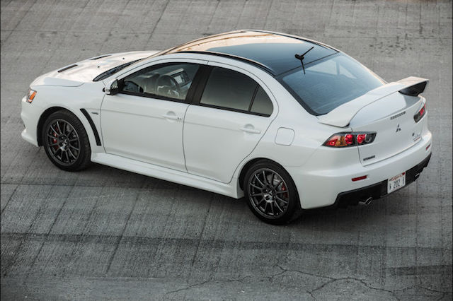 A Mitsubishi Lancer Evo Final Edition.