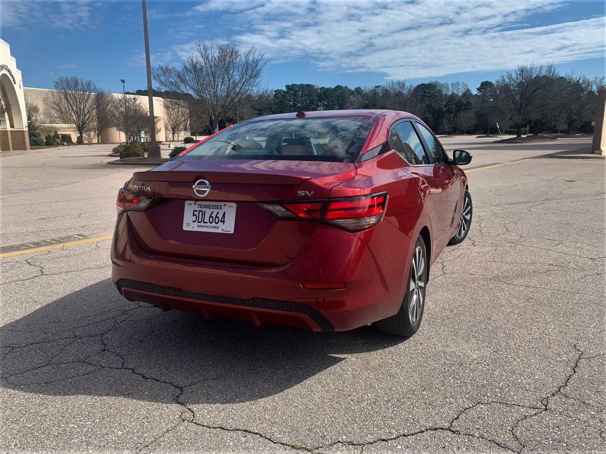 2021 Nissan Sentra rear view
