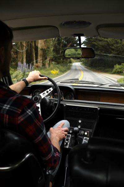driver on a twisty road