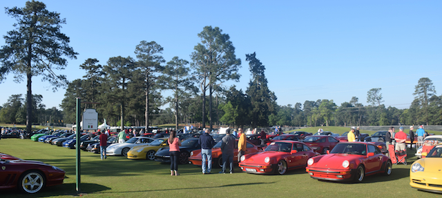 Porsche Row at the 2015 Pinehurst Concours d'Elegance.