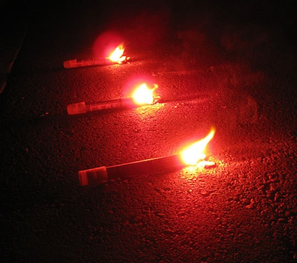 vehicle breakdown road flares