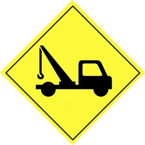 tow warning sign