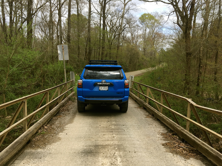 2019 Toyota 4Runner on SR 1625 (Underwood Road) in Moore County, NC.