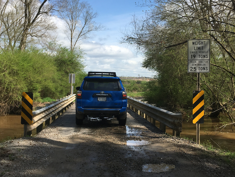 2019 Toyota 4Runner on SR 1628 (Cool Springs Road) in Chatham County, NC.