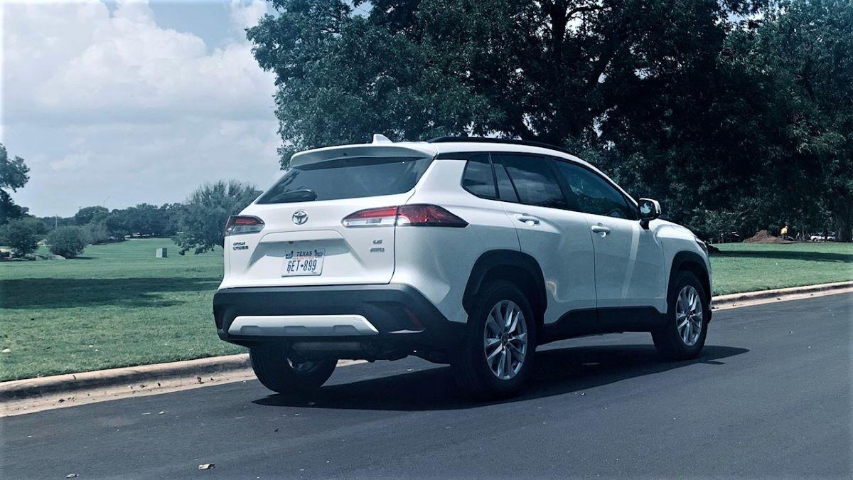 2022 Toyota Corolla Cross rear three-quarter view