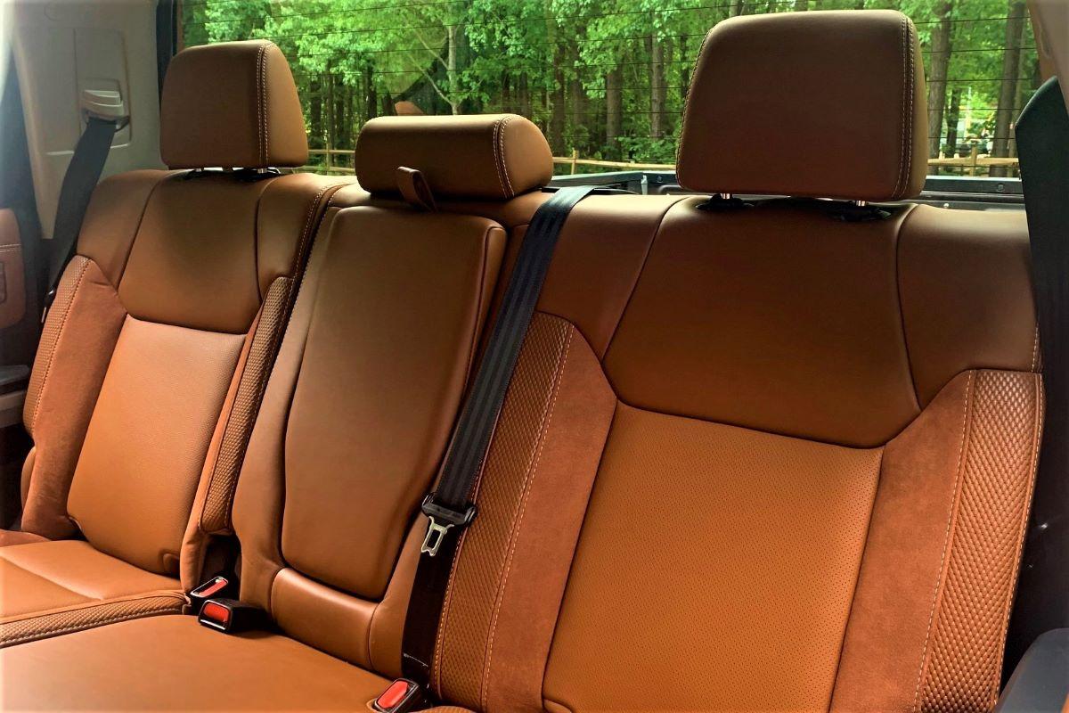 Toyota Tundra rear seats