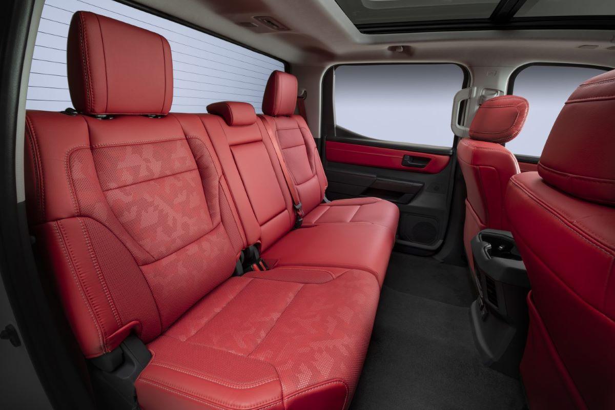 2022 Toyota Tundra rear seats