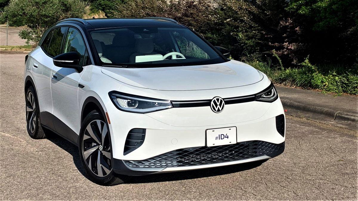 2021 Volkswagen ID.4 front three-quarter view