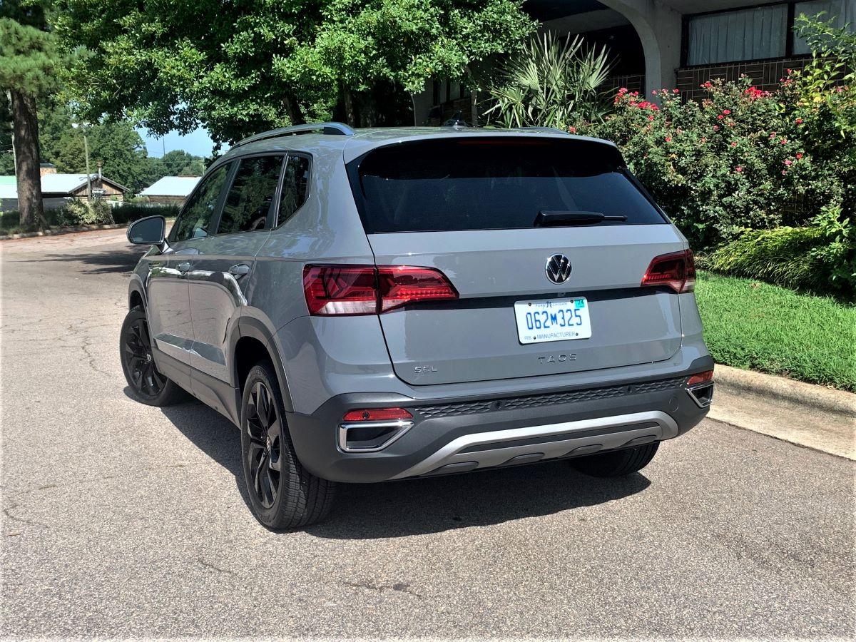 VW Taos rear three quarter