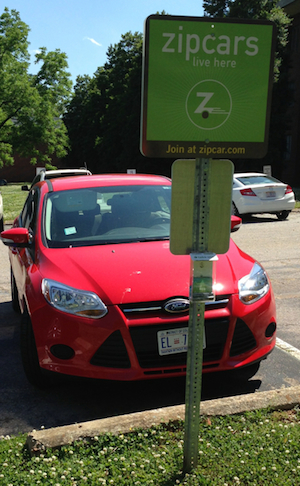 Zipcar MRY Ford Focus.