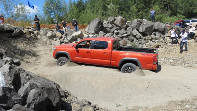 Toyota Tacoma crawl control.